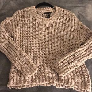 Grey knitted sweater from forever 21